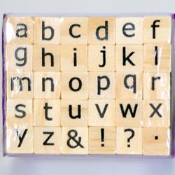 Alphabet Stamps Turvy