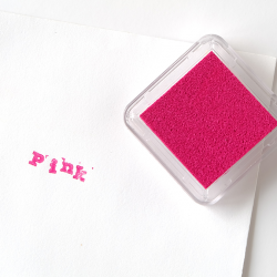 Pink Square Ink Pad