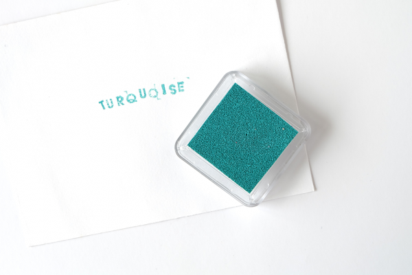Turquoise Square Ink Pad