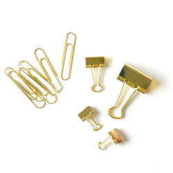 I-Try-DIY-gold-paper-and-binder-clips-pack