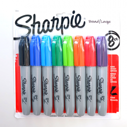 Sharpie-Chisel-Broad-Large-Tip-Permanent-Markers-8pc