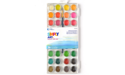 Loew Cornell Simply Art 36-Color Watercolor Cake Set